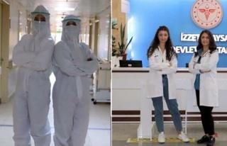 Doktor anne- kız, aynı corona virüs servisinde...