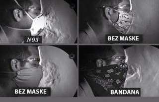 Doktordan ağır çekimde maske deneyi