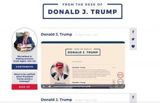 Donald Trump, Kendi Sosyal Medya Benzeri İletişim...