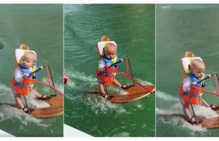 Dünyada Bu Sporu Yapan En Genç İnsan: Su Kayağı...