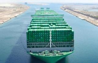 Dünyanın en büyük konteynır gemisi ilk seferinde...