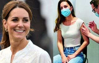 Düşes Kate Middleton da corona aşısı oldu