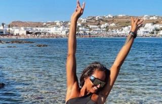 Eda Taşpınar, Mykonos'a kavuştu