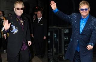 Elton John altına bez bağlayarak sahne aldı