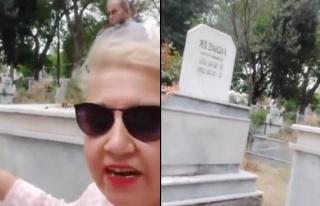 Eşinin Eski Eşinin Mezarını Ziyaret Edip Videoya...