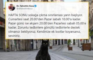 Fahrettin Koca'dan Sokağa Çıkma Yasağı Hatırlatması:...