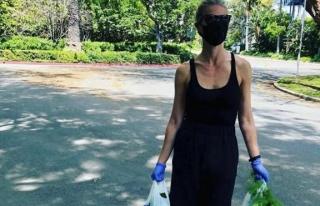 Gwyneth Paltrow, maskesini taktı, eldivenini giydi...