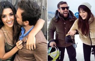 Hande Erçel ve Murat Dalkılıç'ın 14 Şubat kutlaması