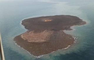 Hazar Denizi'nde Patlamanın Meydana Geldiği Çamur...