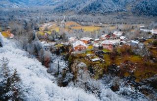 Horma Kanyonu, kar altında ziyaretçilerine eşsiz...