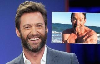 Hugh Jackman soğuk havada okyanusta yüzdü!