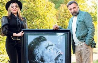 İranlı ressamdan Oktay Kaynarca'ya sürpriz