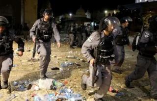 İsrail güçlerinden Batı Şeria'da Filistinli göstericilere...