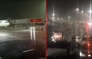 İstanbul Havalimanı'nda Şiddetli Fırtına Konteyner...