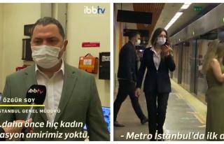 İstanbul Metro İstasyonları'nın İlk Kadın Amirleri...