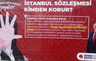 İstanbul Sözleşmesi Afişinden Soruşturma Açılan...