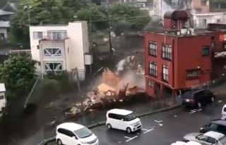 Japonya'dan gelen görüntüler korkunç! Sel ve heyelan...