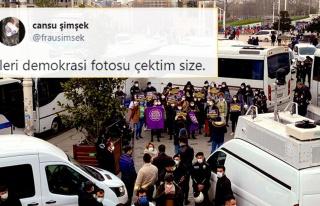 Kadınlardan Polis Ablukası Altında Eylem: 'Kararı...