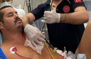 Kalbine zıpkın saplanan adam sağlığına kavuştu