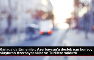 Kanada'da Ermeniler, Azerbaycan'a destek için konvoy...