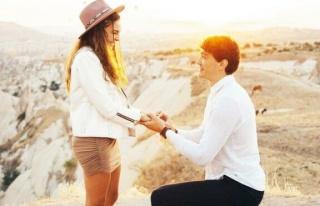Kapadokya'da evlilik teklifi