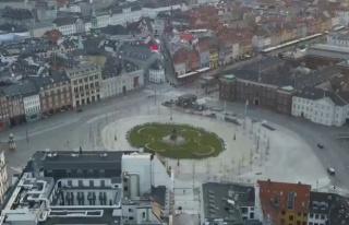 Karantina Altındaki Kopenhag'da Caddeler ve Yollar...