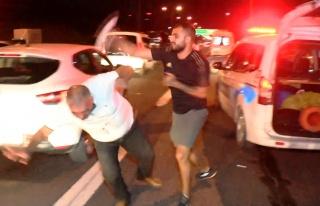 Kazaya Neden Olan Alkollü Sürücüye Olay Yerinde...