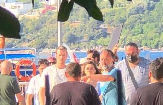 Kıvanç Tatlıtuğ Bodrum'da kamera karşısına...