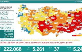 Koronavirüs Türkiye: 5 Bin 261 Yeni Vaka, 37 Ölüm...