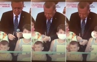 Kurdeleyi Erken Kesen Çocuğa Cumhurbaşkanı Erdoğan'ın...