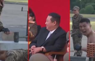 Kuzey Kore askerlerinden gövde gösterisi! Betonu...