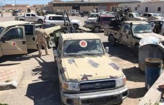 Libya'daki UMH birlikleri Trablus'un güneyindeki...