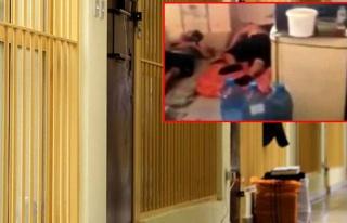 Lübnan'da koronavirüslü mahkumların görüntüleri...