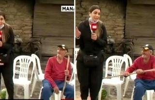 Manavgat'ta Yangın Haberi Yapan Kadın Muhabiri Değneği...