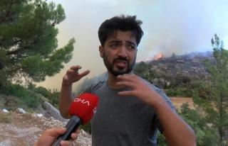 Manavgat'taki Yangında Orman Memurları ile Tartışıp...