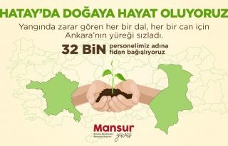 Mansur Yavaş'tan Fidan Kampanyası: '32 Bin Belediye...