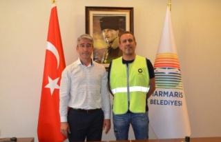 Marmaris Belediye Başkanı Oktay Haluk Levent'le...