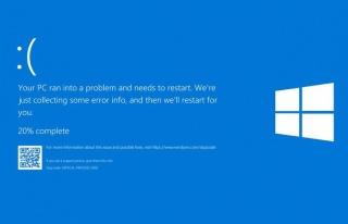 Mavi ekran, Windows 10'a geri döndü