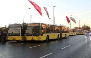 Metrobüs Seferleri Fatih Sultan Mehmet Köprüsü'nden...