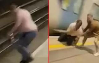 Metrodakiler nefeslerini tutarak izledi! Raylara atlayan...