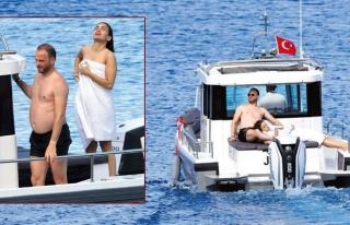 Murat Gezer - Nazlı Çarmıklı çifti balayı tatilinde