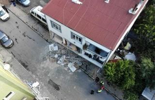 Mutfak tüpü patlamasının meydana geldiği bina...