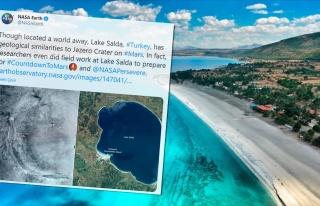 NASA'dan Salda Gölü Paylaşımı: Mars'taki Jezero...