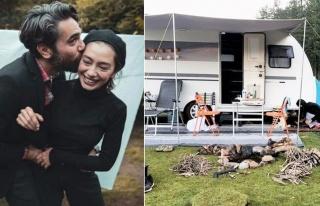 Neslihan Atagül-Kadir Doğulu çifti bu sene de kamp...