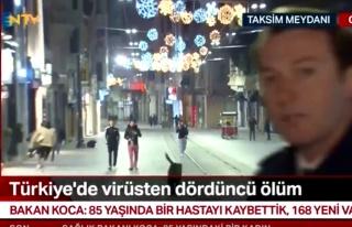 NTV Canlı Yayını Sırasında Köpekten Kaçan Gençlerin...