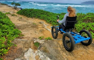 Off-road tekerlekli sandalye