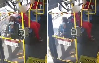 Otobüste Yolculuk Eden Kadının Nedensizce Saçını...