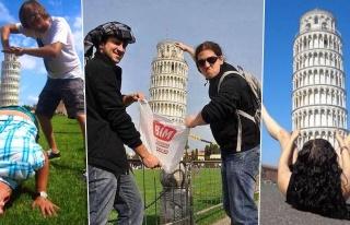 Pisa Kulesi'ni İtermiş Gibi Yapmak Yerine Verilecek...