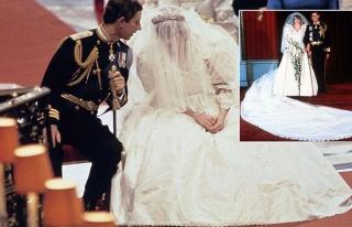 Prenses Diana'nın gelinliğinin çizimleri satılıyor