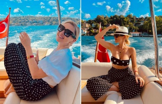 Şarkıcı Hadise'den tekne paylaşımı